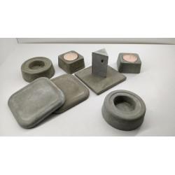 Подсвечник Подсвечник ручной работы Подсвечник из бетона Лофт Красивые подсвечники Эксклюзивные подсвечники