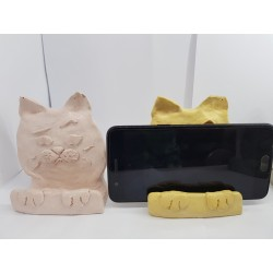 Phone stand Phone stands Phone stand on the table Phone accessories Phone stand on the table Concrete phone stand