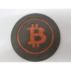 Bitcoin Бетонный Bitcoin Подставка под чашку Bitcoin Подставка под чашку криптовалюта