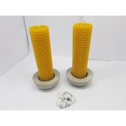 Набор свечей Набор свечей из вощины Набор свечей вместе с подсвечниками Набор свечей и подсвечники ручной работы