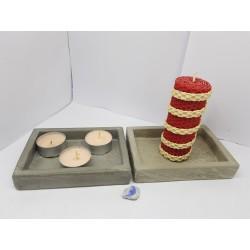 Подсвечник на 2 свечи Подсвечник для чайной свечи  Подсвечник Подсвечник ручной работы Подсвечник из бетона Лофт