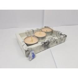 Подсвечник на 2 свечи Подсвечник для чайной свечи Подсвечник Подсвечник ручной работы Подсвечник из бетона
