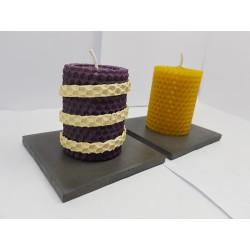 Candles Set of candles Set of beeswax candles Set of candles with candlesticks Set of candles and candlesticks handmade