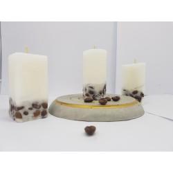 Set of coffee candles Set of coffee candles Set of candles with coffee aroma Set of candles with coffee beans