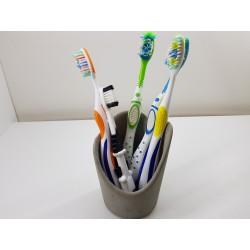 Подставка для зубных щеток Держатель для зубных щеток Принадлежности для ванной Ручная работа Бетон Лофт