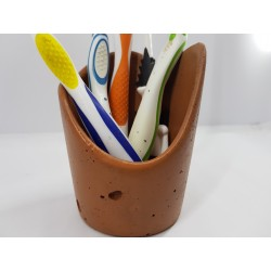 Toothbrush holder Bathroom accessories Handmade Concrete Toothbrush and Paste Holder Stylish Bathroom Accessories