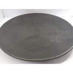 Тарелка, Тарелка-поднос,  Тарелка из бетона ручной работы, Тарелка Лофт, Тарелка черная