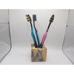 Toothbrush holder construction building blocks toys Toothbrush holder construction building blocks Handmade toothbrush holder
