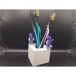 Toothbrush holder blocks toys Toothbrush holder building blocks toys Toothbrush holder building blocks Handmade Concrete