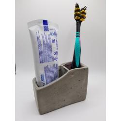 Toothbrush organizer Handmade toothbrush organizer Concrete toothbrush organizer Concrete Handmade Loft