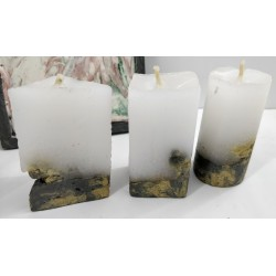 Candles Decorative candles Concrete candles Handmade candles Exclusive candles Set of candles