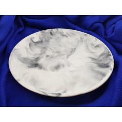 Тарелка, Тарелка-поднос,  Тарелка из бетона ручной работы, Тарелка Лофт, Тарелка черно-белая