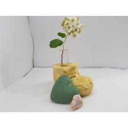 Ваза для цветов из бетона и стекла Ваза из бетона и стекла Ваза ботинок ваза в виде ботинка