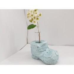 Цементный ботинок Бетонный ботинок Ботинок сувенир Ваза для цветов сувенир Ваза для цветов подарок