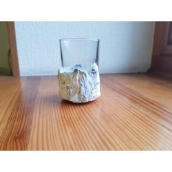 Shot glass Shot glass for vodka Shot glass for tequila Rum shot glass Handmade Concrete Concrete and glass