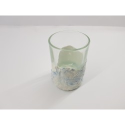 Concrete and glass hand made Decorative shot glass Decorative shot glass for vodka Decorative shot glass for tequila
