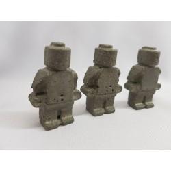 Figurine similar to Lego Concrete man similar to Lego Figurine of a robot similar to Lego Handmade Concrete