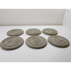 Litecoin Concrete Litecoin Coasters Handmade Coasters Litecoin Coasters cryptocurrency