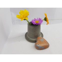 Vase Flower vase Small flower vase Concrete flower vase Handmade Exclusive flower vase Mini flower vase