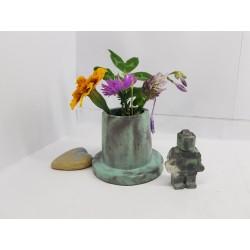 Ваза Маленькая ваза для цветов Ваза для цветов Бетонная ваза для цветов Ручная работа Эксклюзивная ваза для цветов