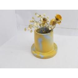 Небольшая ваза для цветов Мини ваза Уникальная ваза для цветов Креативная ваза Ваза Лофт Ваза для цветов ручной работы