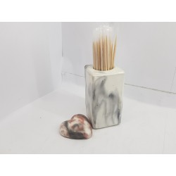 Concrete toothpick or match holder Rustic style Eco stand Bar organizer Kitchen appliance