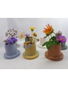 Small handmade concrete vase