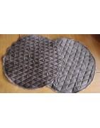 Original handmade round quilted napkins