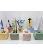 Подставка для ручек и карандашей  в виде строительных блоков